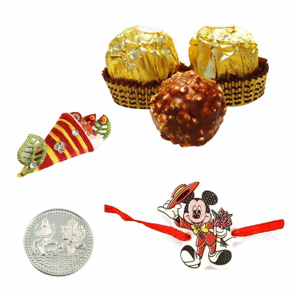 Mickey Rakhi with Ferrero Rocher