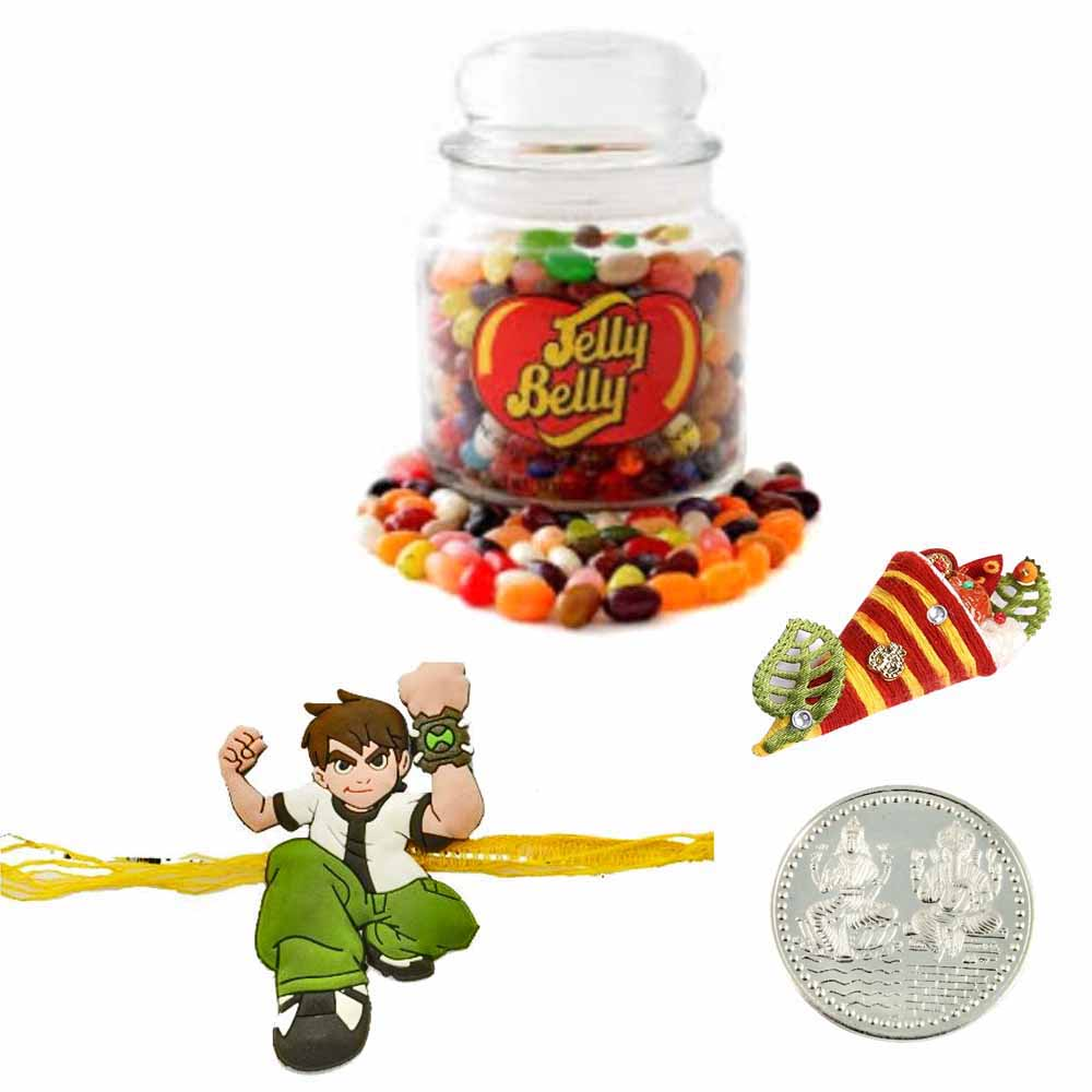 Ben10 Rakhi with Jelly Beans Jar 64 Oz