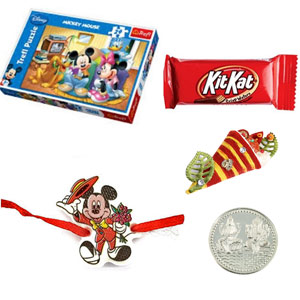 Royal Rakhis-Mickey Mouse Rakhi Combo