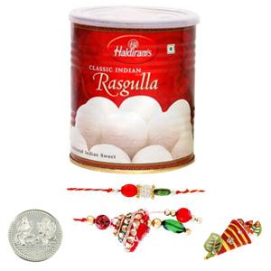 Sweets & Dryfruits-Lumba Pair with Haldiram Rasgulla