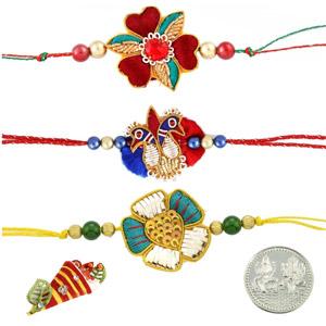 Royal Rakhis-Zardosi Rakhi Set of