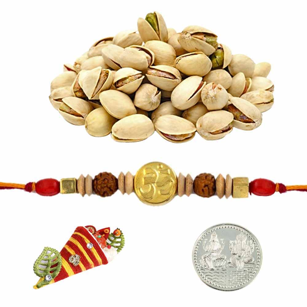 Ethnic Rakhi with 100 grams Pistachios