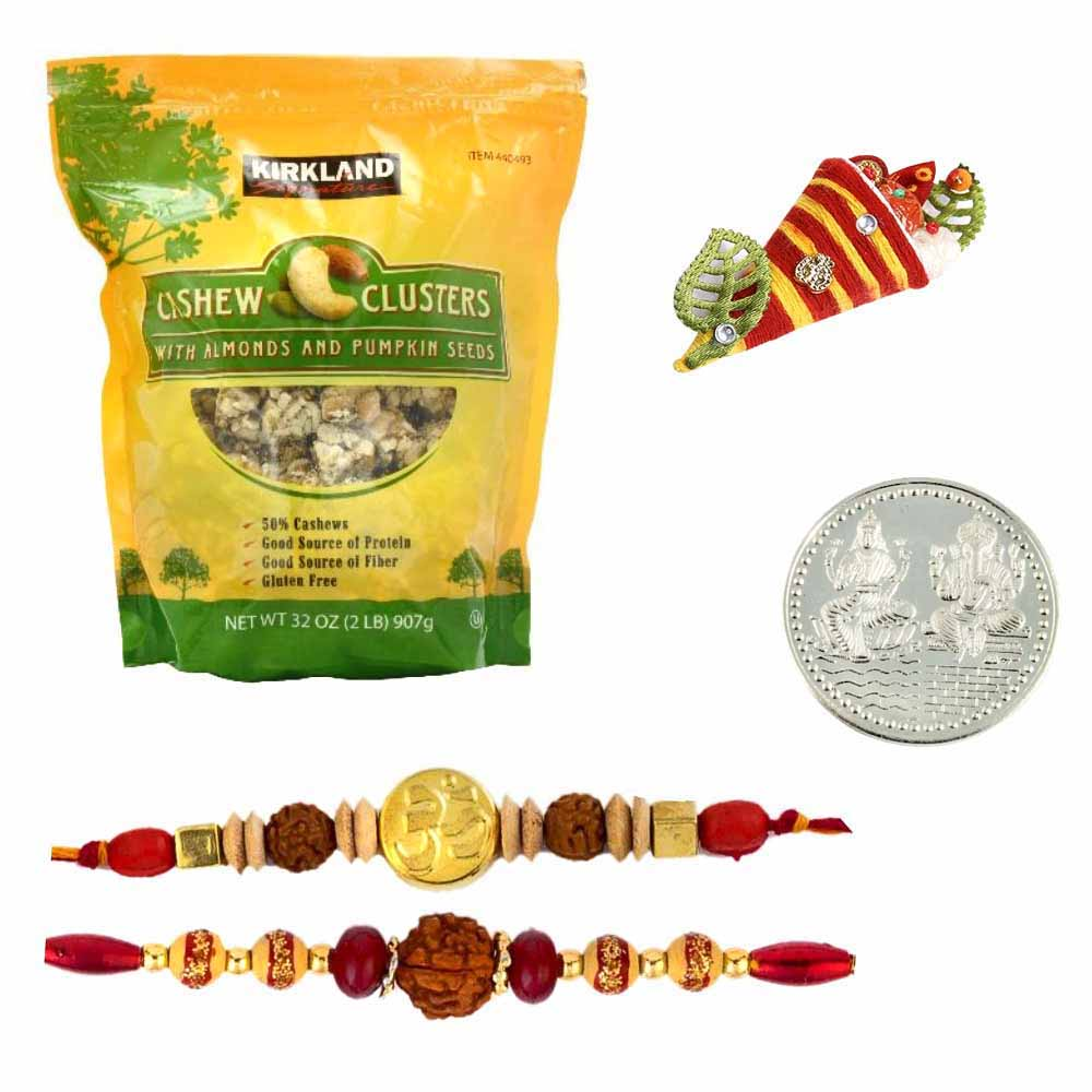 2 Rakhis with Kirkland Cashew Clusters