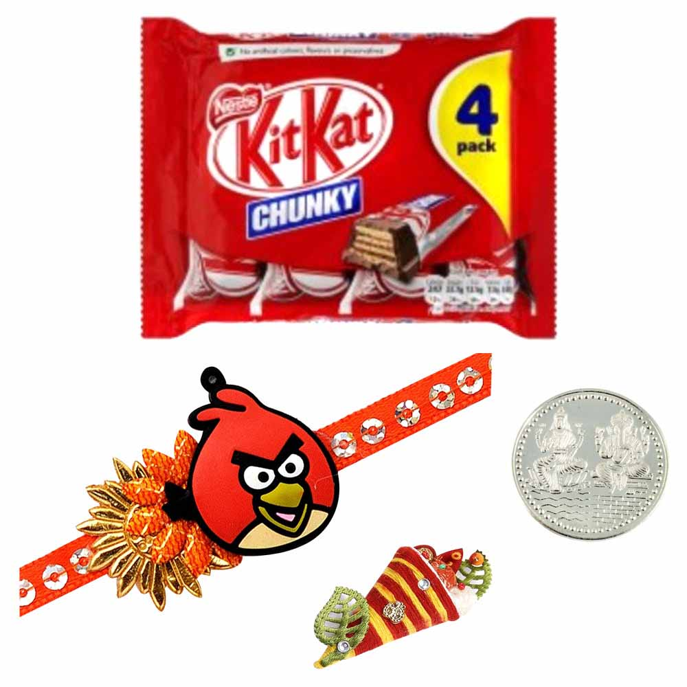 Kids Rakhi with Kit Kat 4 Finger Milk Chocolate Bar