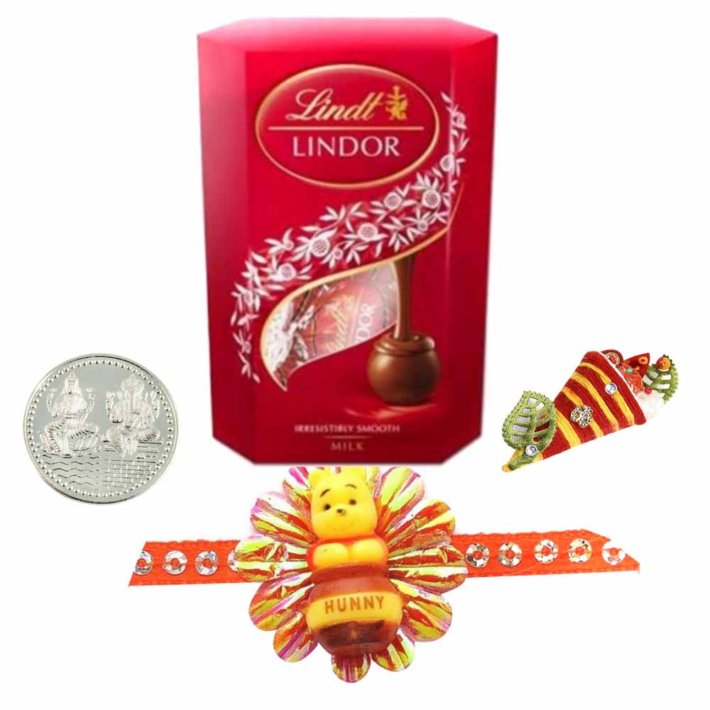 Kids Rakhi with Lindt Lindor Milk Chocolate Truffles Carton