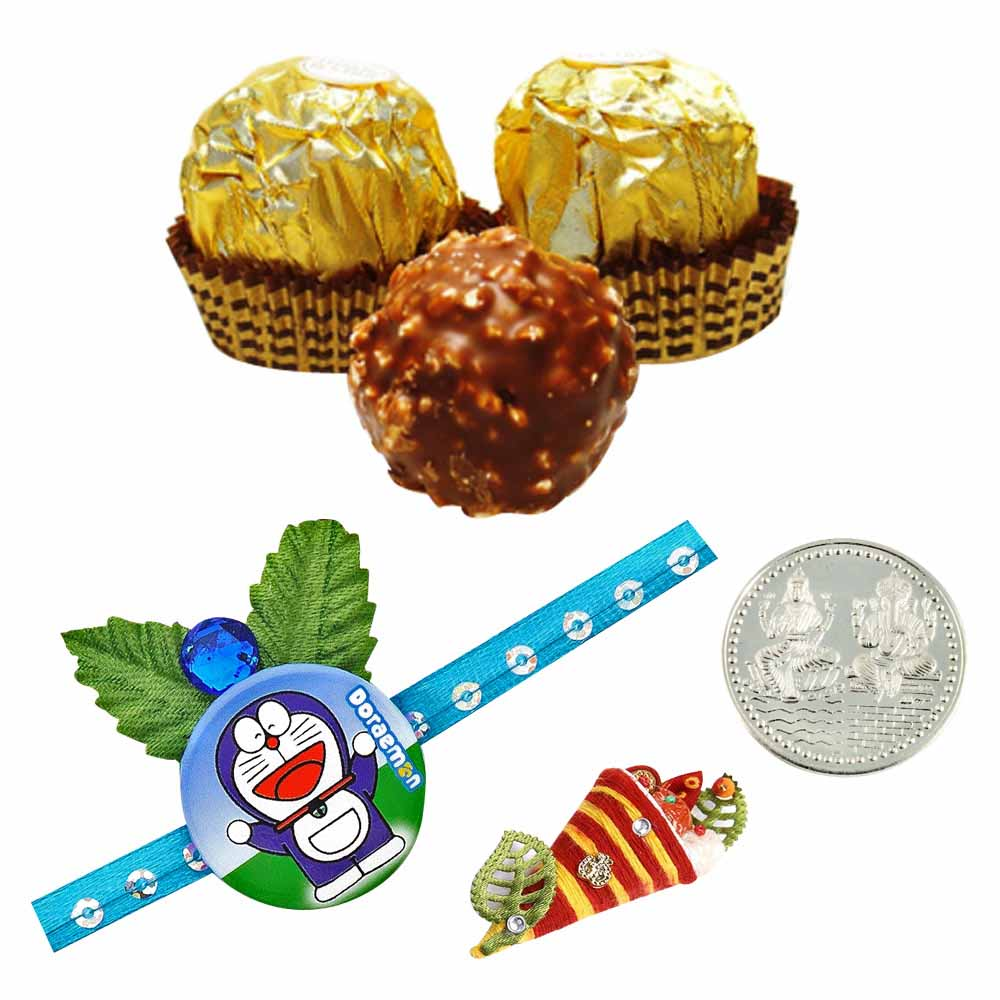 Kids Rakhi with Ferrero Rocher 5 Pieces Boxed Chocolates