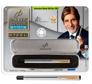 Parker Vector Stainless Steel Roller Ball Pen