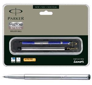 Parker Vector Stainless Steel Roller Ball Pen (CT)
