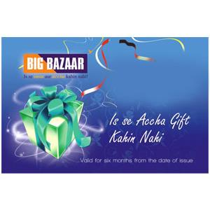 Departmental Stores Gift Vouchers-Big Bazaar Gift Voucher worth Rs 1000/-