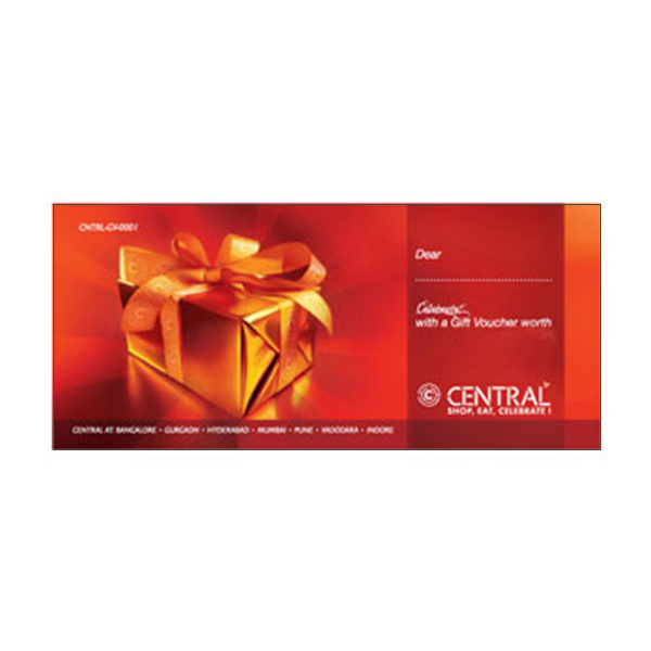 Departmental Stores Gift Vouchers-Central Mall Gift Card 10000