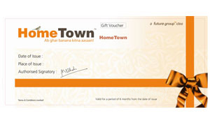 Home Decor Gift Voucher-Home Town Gift Voucher worth Rs 2000/-