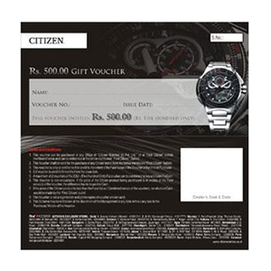 Watches Gift Voucher-Citizen Watches Gift Voucher