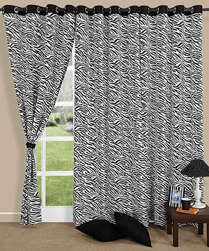 Stylish Tiger Print Door Curtain