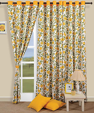 Spring Flowers Door Curtain