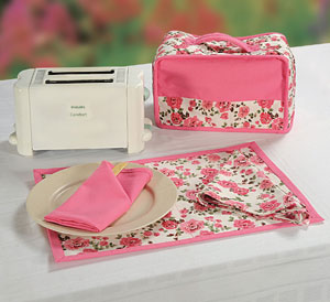 Soothing Pink Toaster Cover Set