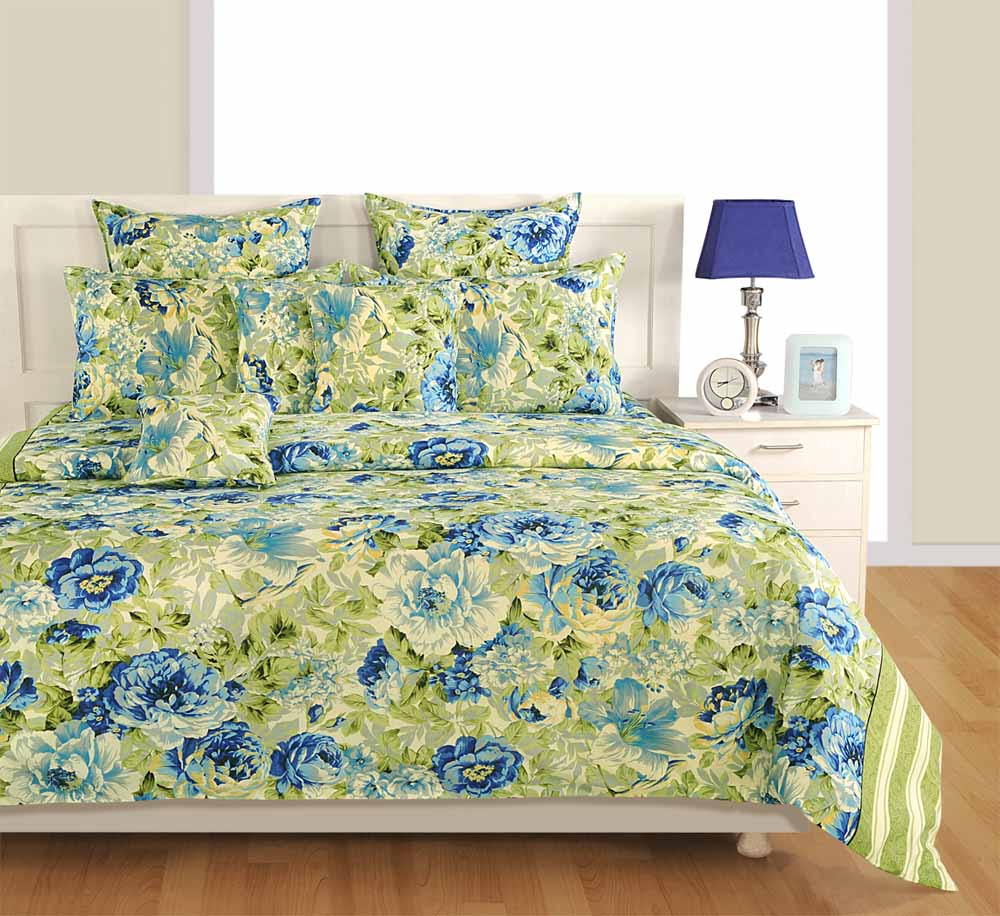 Bedsheets-Swayam Off White and Cream Colour Floral Bed Sheet with Pillow Covers