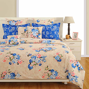 Swayam Cream Colour Bed Sheet with Pillow Covers