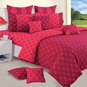 Swayam Pink and Magenta Colour Ethnic Bed Sheet with Pillow Covers