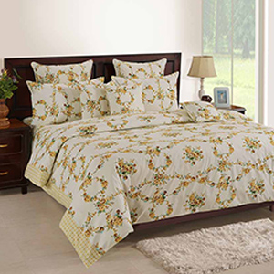 Swayam Off White Colour Bed Sheet with Pillow Covers