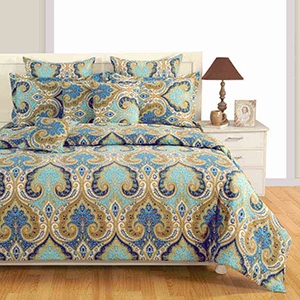 Swayam Multicolour Colour Bed Sheet with Pillow Covers