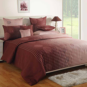 Swayam Choclate Colour Bed Sheet with Pillow Covers