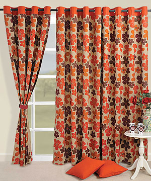 Floral Waterfall Window Curtain