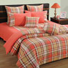 Checkered Arabian Pink Comforter and Double Bedsheet Set