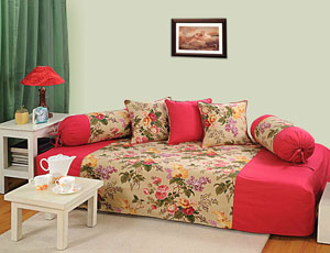 Send gifts to india send dewan sets to india floral for Diwan for sitting
