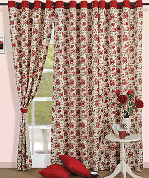Floral Rush Window Curtain