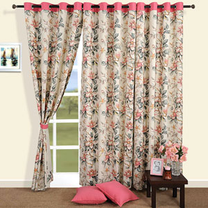 Haven of Flowers Door Curtain