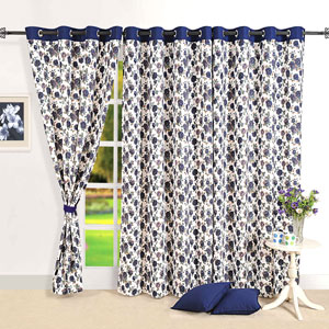 Violet Blooms Door Curtain
