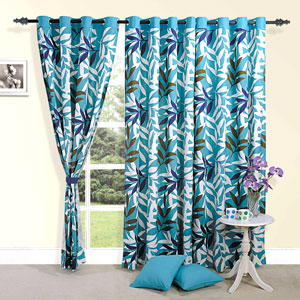 Whisper of Leaves Door Curtain