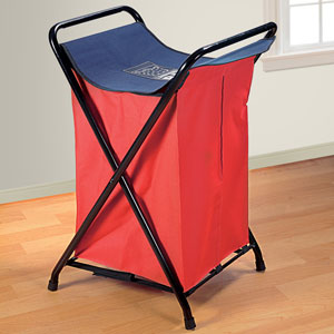 Bright Red and Blue Laundry Bag