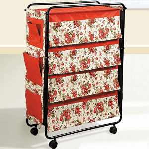 Red Rose Garden Multi-Purpose Rack