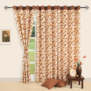 Golden Rose Window Curtains