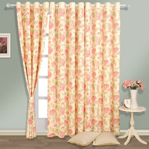 Ginger Flower Window Curtains