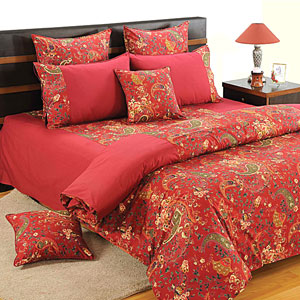 Paisley Kaleidoscope Comforter and Double Bedsheet Set