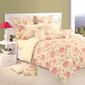 Haven of Flowers Comforter and Double Bedsheet Set