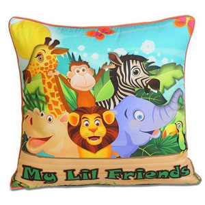 Lil Friends Cushion Cover