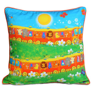 Double Train Cushion Cover