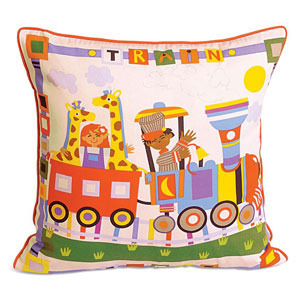 Toy Train Cushion Cover