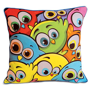 Not so angry birds! Cushion Cover