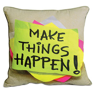 Make things happen Cushion Cover