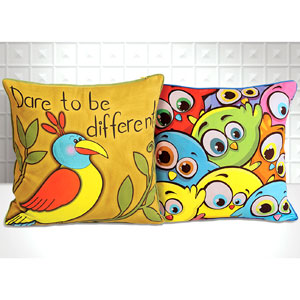 Colorful Birds - Set of 2