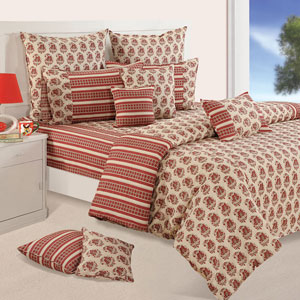 Rajasthan Print Double Bedsheet & Comforter Set