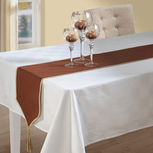 Choco Brown Table Runner