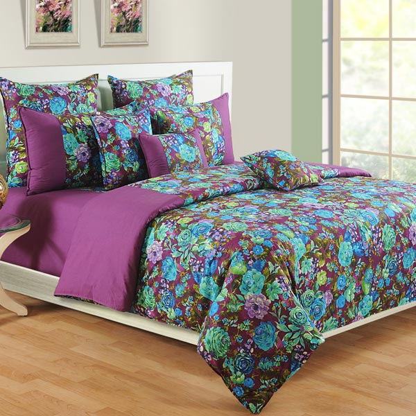 Violet Orchid Bedsheet Set
