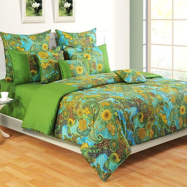 Olive Green Splendor Bedsheet Set