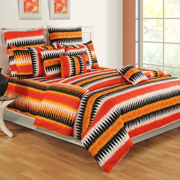 Orange Traditions Bedsheet Set