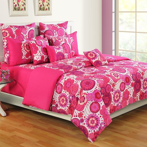 Flowery Pink Bedsheet Set